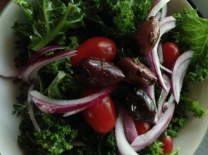 kale and olive salad