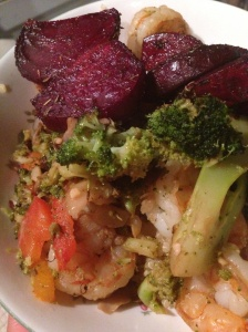 shrimp and beets